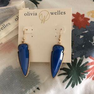 OLIVIA WELLES BLUE ARROWHEAD EARRINGS NWT